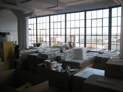 Our new space a sea of boxes