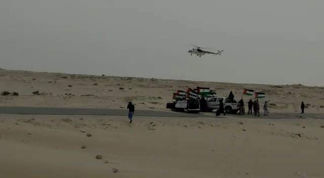La MINURSO sobrevuela El Guerguerat en un intento de intimidar a los manifestantes saharauis.
