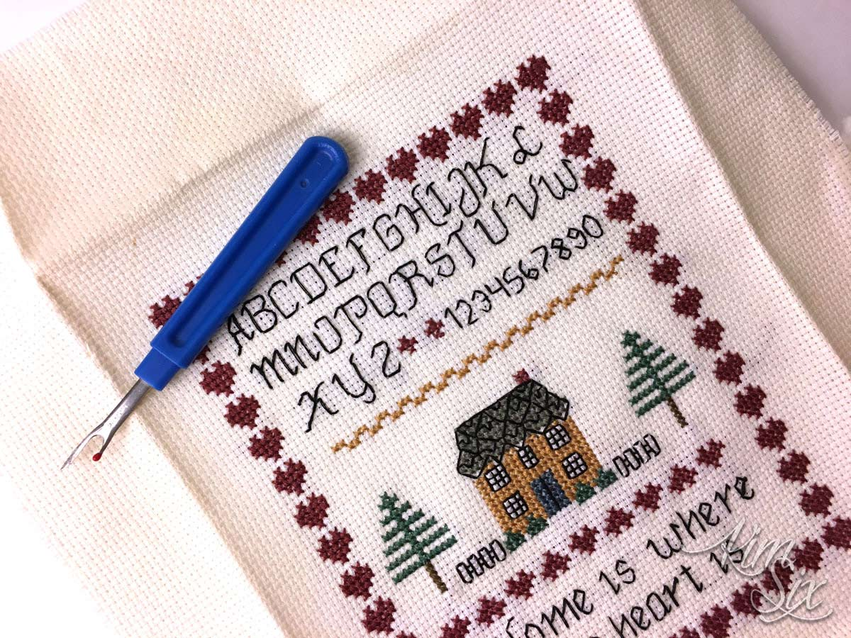 Ripping out old cross stitch