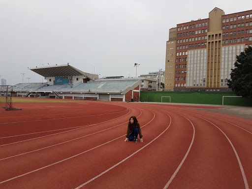 Running track at Fengjia University in Taichung Taiwan