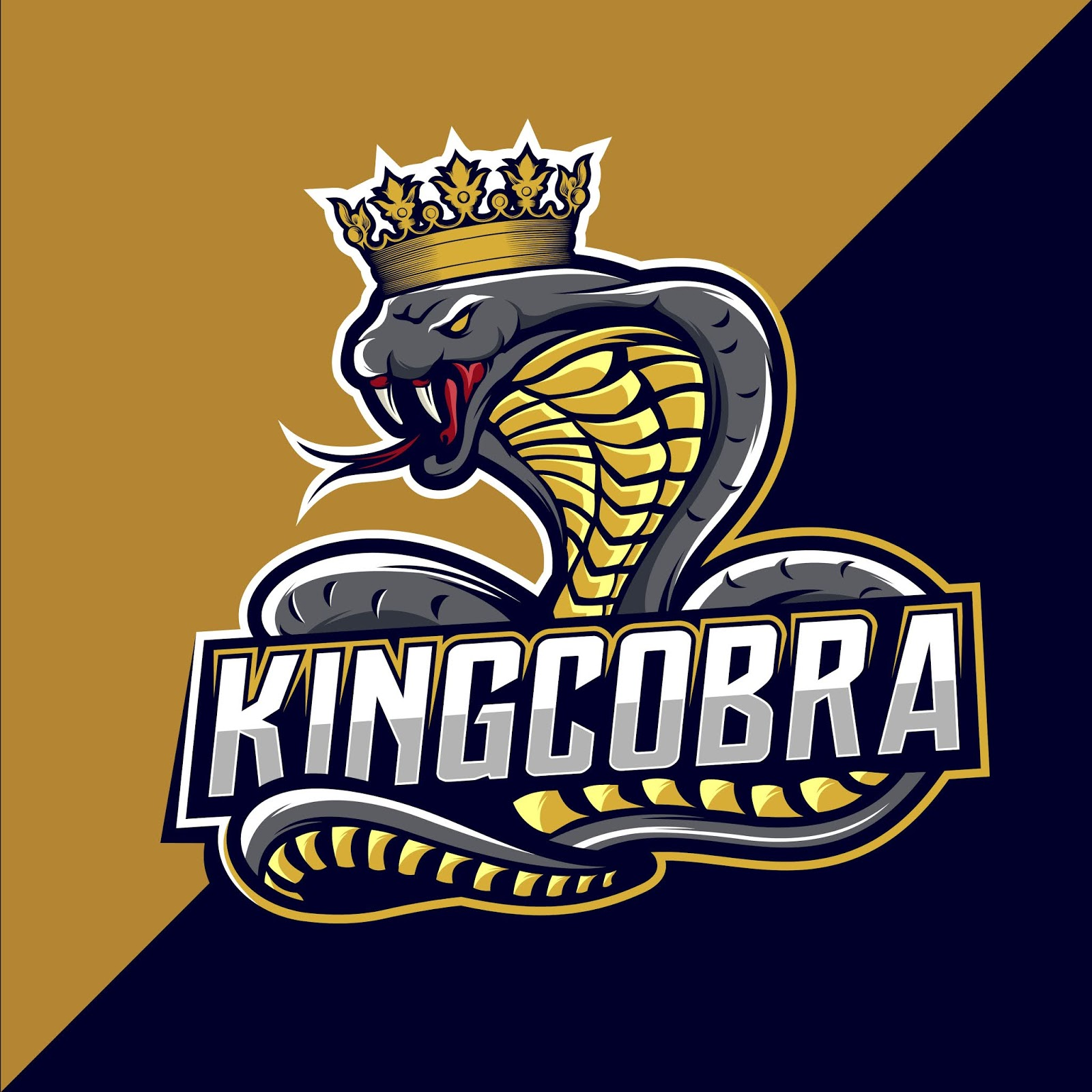 King Cobra Esport Logo Design Free Download Vector CDR, AI, EPS and PNG Formats