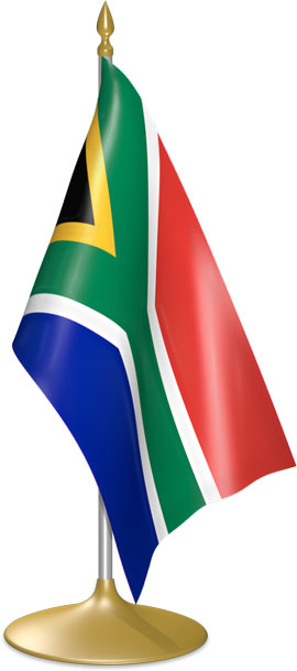 South African table flags - desk flags