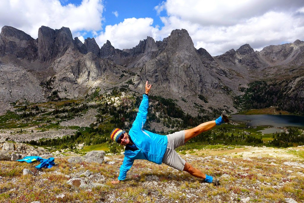 Side plank at the Cirque of the Towers. Because the epic hike over Jackass Pass just wasn't quite enough? :)
