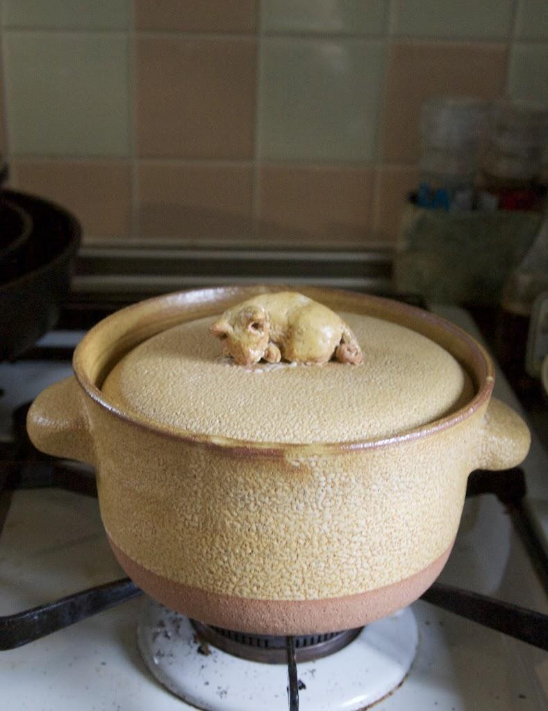 猫付き土鍋