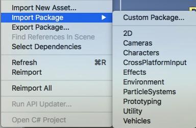 unity3d custom pakacage