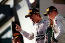 Nico Rosberg on the podium at Australia