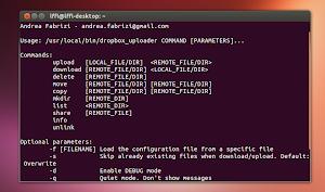 Dropbox Uploader Linux