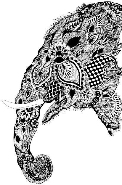 Paisley Design Coloring Books Via Paisley Elephant Design