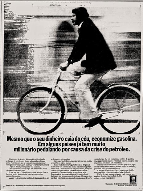 Anúncio GM - Campanha de Interesse Público - 1974