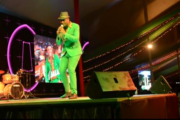 Jalang'o perform at a stage in Nairobi
