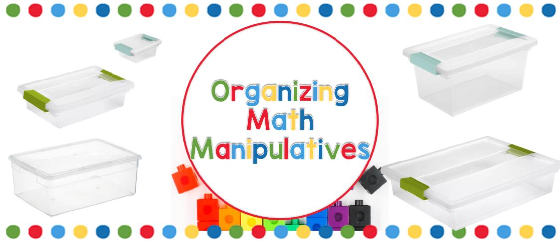 organizing math manipulatives