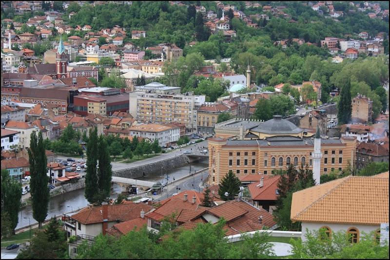 Vijecnica from the hills of Sarajevo