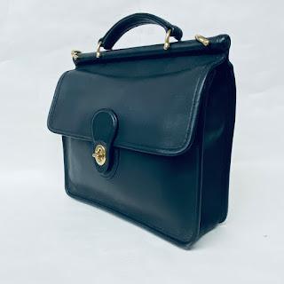 Coach Classic Black Leather Handbag
