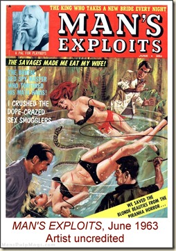 MAN'S EXPLOITS, June 1963, artist uncredited