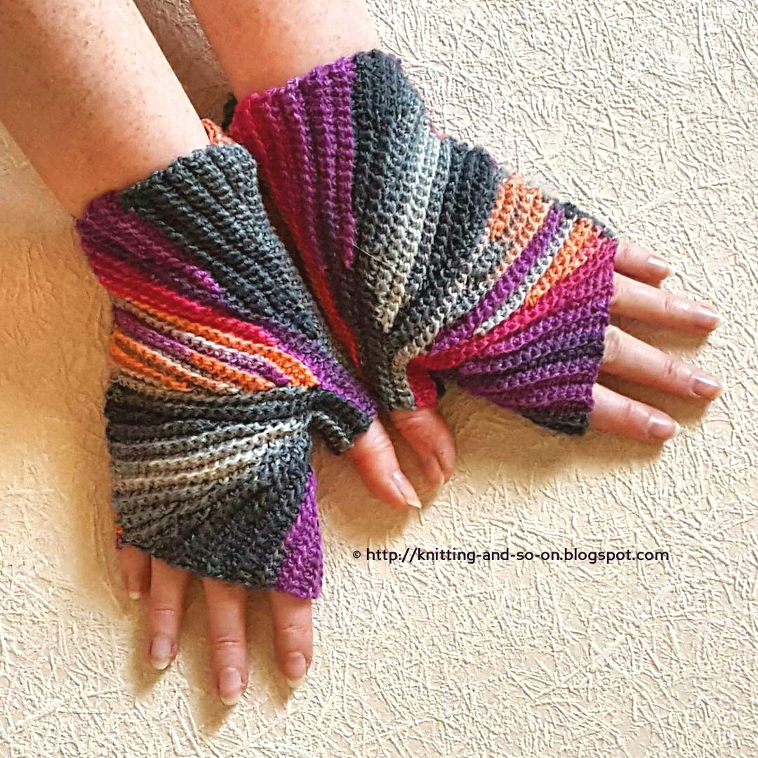 Crochet Stitch M2 : Sparkler Mitts - free crochet pattern by Knitting and so on