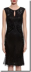 Gina Baccioni frilled hem beaded dress