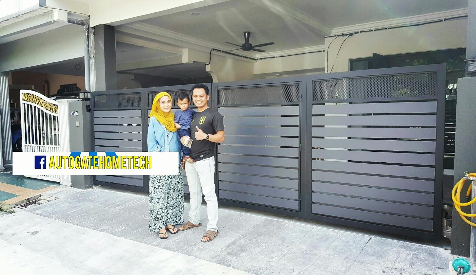 Automatic Gate System Pagar Rumah Moden Design