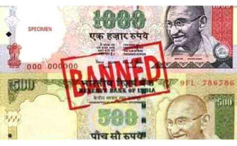 500 & 1000 Currency baned