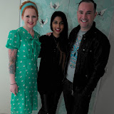 WWW.ENTSIMAGES.COM -  Belinda Hay, Meryl Fernandes and Nick Ede   at    Style for Stroke and Lipcote - party at The Painted Lady, 65 Redchurch Street, London February 5th 2013                                                      Photo Mobis Photos/OIC 0203 174 1069