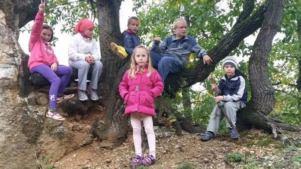 Természetjáráson a csővári általános iskola