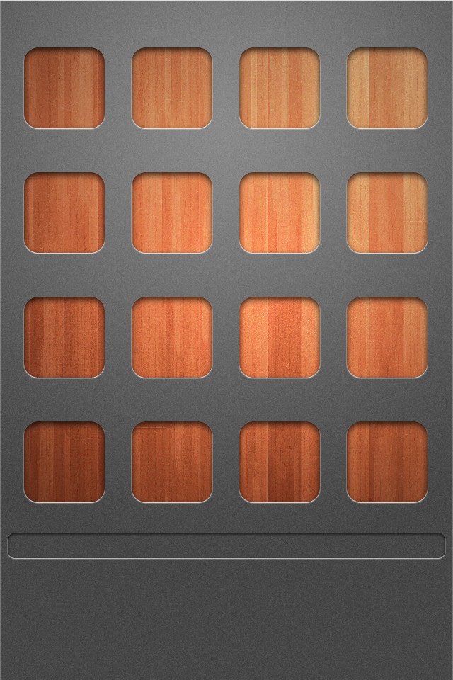 iPhone 4 Background HD Wood on Gray Shelves Picture