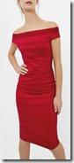 Ted Baker Bardot Shoulder Midi Dress