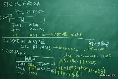 SIC的目的碼和SIC/XE的目的碼比較