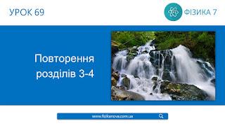 Урок 69 Повторення розділу 3. Взаємодія тіл. Сила. Повторення розділу 4. Механічна робота та енергія