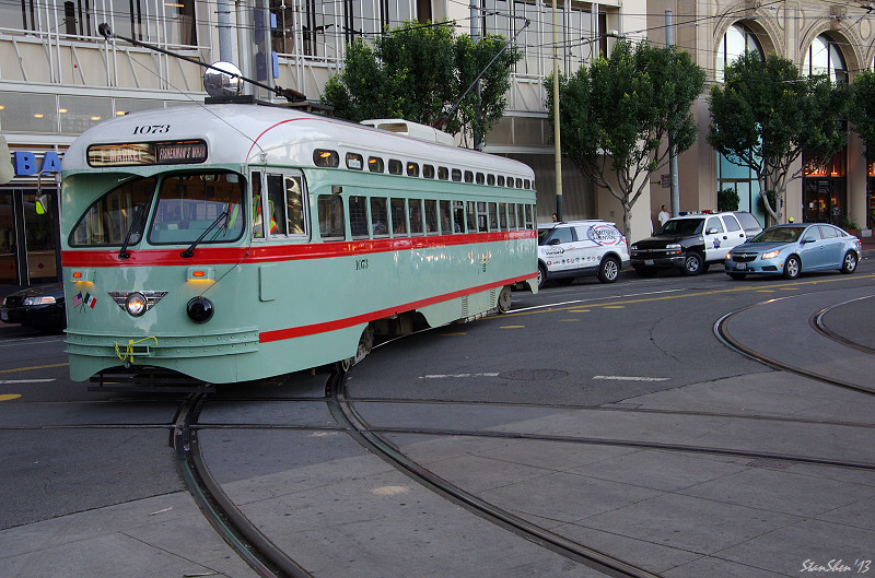 浪漫街車旅-MUNI的F line古董電車