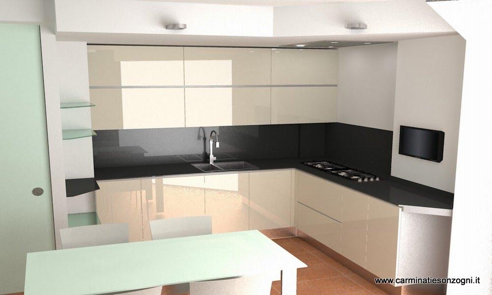 1- progetto di cucina componibile in vetro Valcucine mod. artematica Vitrum in Bergamo -2.jpg