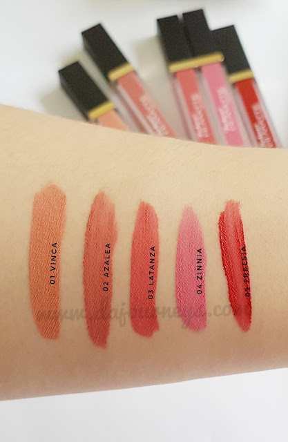 Review Purbasari Hi-Matte Lip Cream All Shade