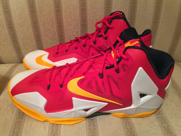 First Decent Look at Nike LeBron XI 11 Fairfax Home PE
