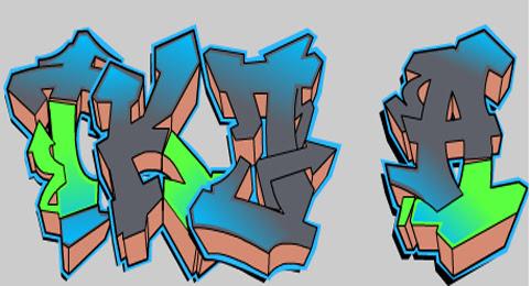 Design Grafiti Tkj Dengan Graffiti Creator