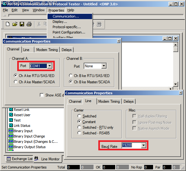 ASE2000 - Communication Setting