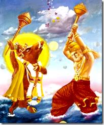 [Vishnu and Hiranyaksha]
