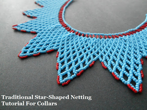 Star Shaped Netted Collar Tutorial