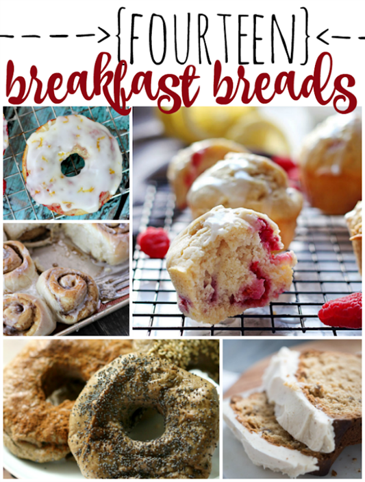14 Breakfast Bread Recipes at GingerSnapCrafts.com #breakfast #recipes_thumb[2]