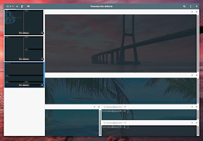 Terminix, un emulador de terminal multipanel para Ubuntu. Ejemplo 2
