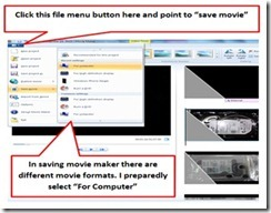 Save Movie Select Formats