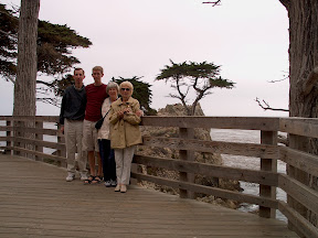 My parents, my great aunt, and I at the Lone Cypress