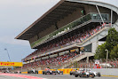 Start of the 2014 Spanish F1 Grand Prix midfield
