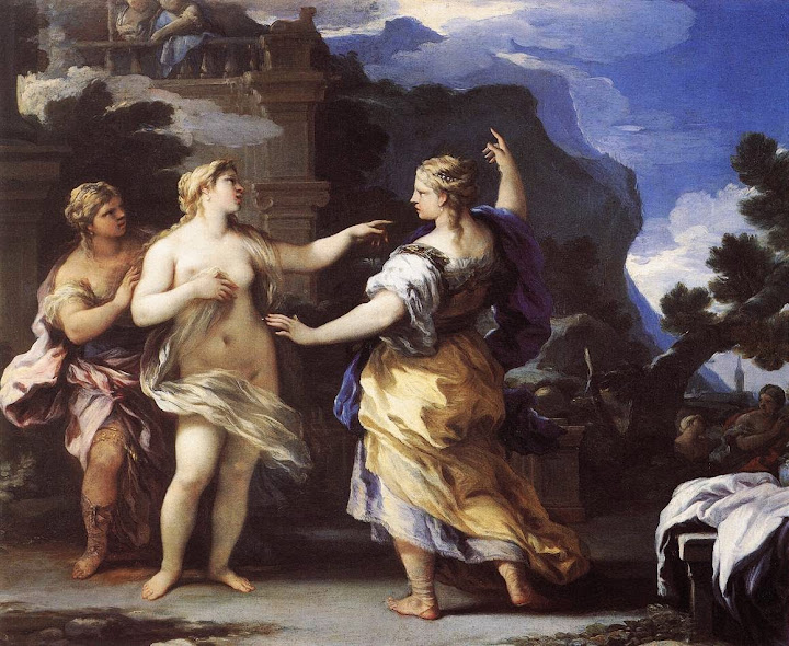 Luca Giordano - Venus Punishing Psyche with a Task