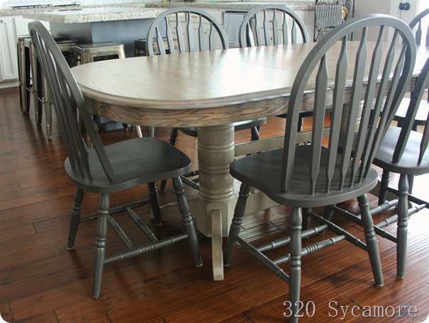 Kitchen table and chairs makeover | 320 * Sycamore