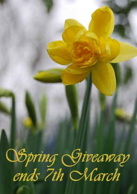 Spring Giveaway ends 7th of March