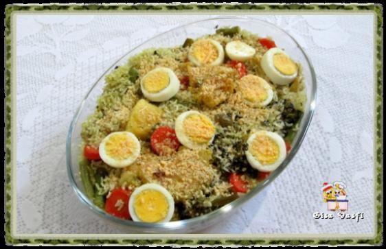 Arroz com bacalhau e legumes 2