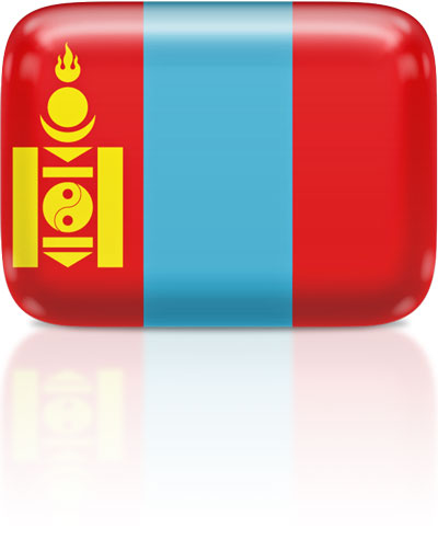 Mongolian flag clipart rectangular
