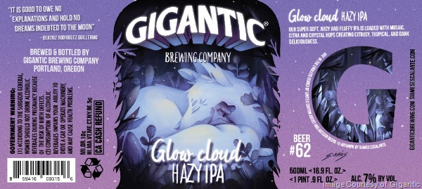 Gigantic Releasing Glow Cloud Hazy IPA
