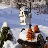 Новогодний скворечник и елочки из печенья
