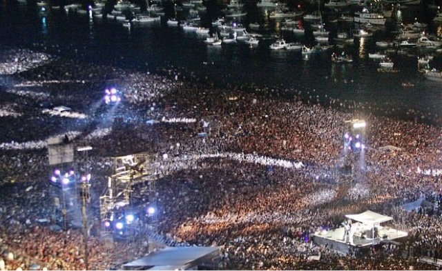 A maior quantidade de pessoas concentradas para um show de rock
