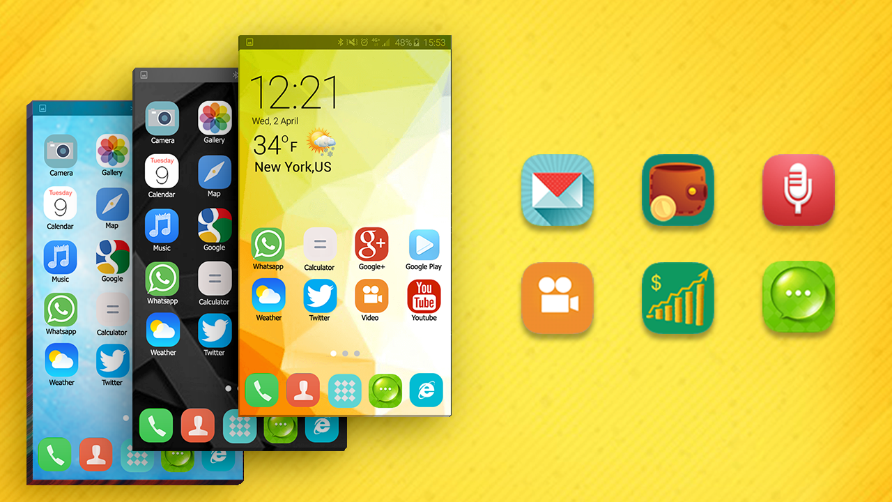 Themes za google - Launcher And Theme For S6 Edge Screenshot